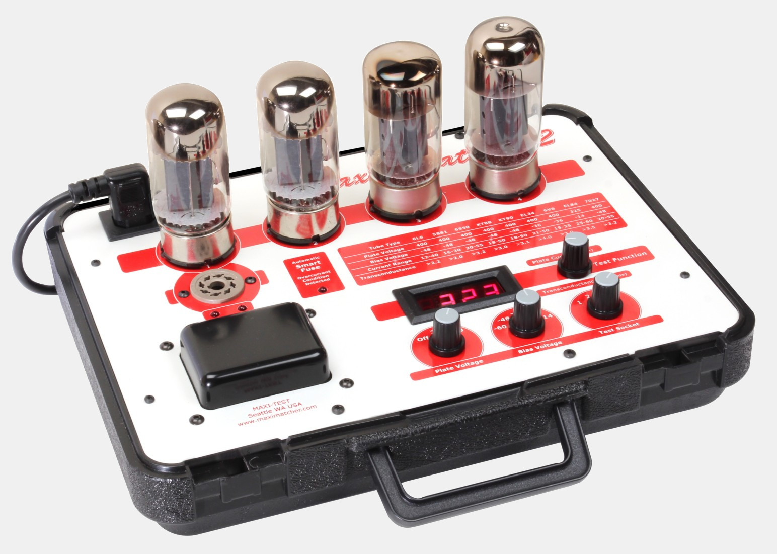 Digital Tube Tester : Maxi test digital tube tester vacuum testing